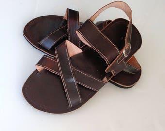 Leder Sandalen dunklen Sommer griechischen Stil Sandalen Boho Sandalen  Sommer Leder Unissex Sandalen COISAS