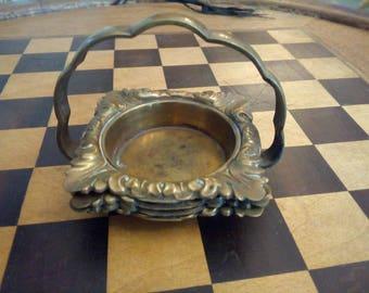Ashtray Set brass 5 x 5 cm probably 1930s