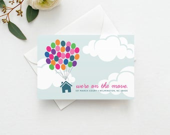 Up Moving Announcement INSTANT DOWNLOAD - New Home, Moving Announcement Postcard, Change of Address, Moving Digital File, DIY Moving Card
