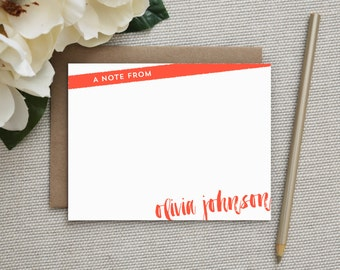 Personalized Stationery. Personalized Notecard Set. Personalized Stationary. Note Cards. Personalized. Stationery. Sets. Brush Stroke.