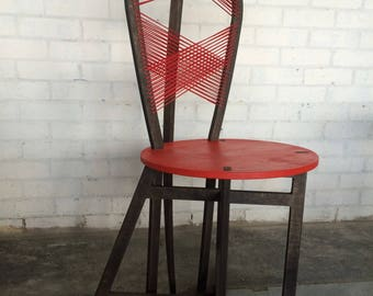 Assembled plywood chair
