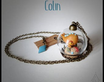 Mini-terrarium glass - Colin little fish necklace jewelry-