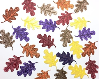 Fall leaves table scatter