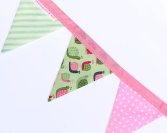 Sally Snail - Handmade Mini Bunting by palicearker