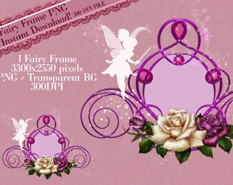 Fairy Frame Clipart, Fairy Clipart, Fairy Graphics