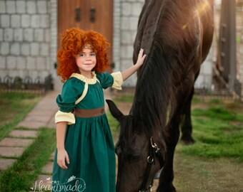 Merida - Character Inspired Dress - Sizes 1/2 through 8