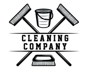 Cleaning Logo #26 Maid Service Housekeeper Housekeeping Clean Vacuum Mop Floor Laundry .SVG .EPS .PNG Clipart Vector Cricut Cutting Download