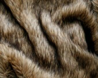 Third Yard Tan Wolf Shag Fur