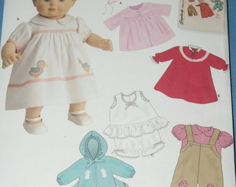 """New Simplicity 15"""" doll Clothes Pattern 1708"""