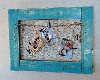 Rustic chicken wire frame