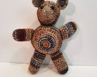 Bear with Belly Button Crochet Plushie