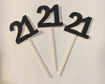 Cake/cupcake toppers. 21, 20, 30, 40, 50, 60, 70, 80, 90 Birthday! Customize your own!