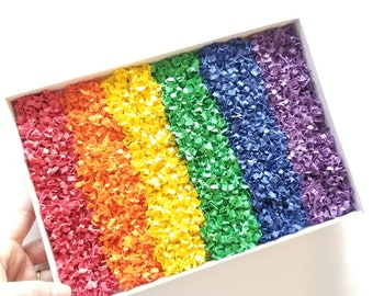 Rainbow Sprinkles: Paper Sensory Bin Activity, Rainbow Paper Sprinkles, Sensory Kit, Play Time for Toddlers, Discovery Learning, Montessori