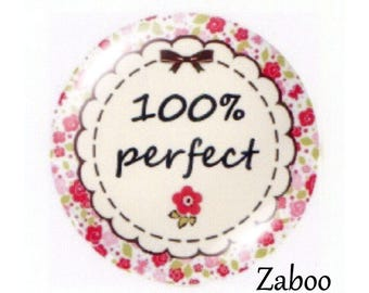 2 20mm glass cabochons, 100% perfect, your floral pink