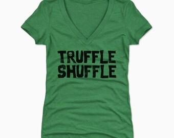 Goonies Women's Shirt | 80s Movie Women's V-neck | Truffle Shuffle