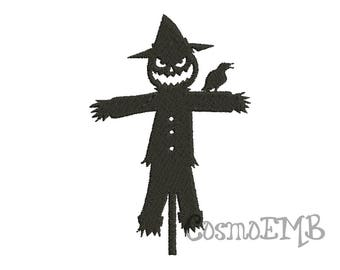 7 Size Pumpkin Scarecrow Silhouette Embroidery design Machine Embroidery - Digital INSTANT DOWNLOAD