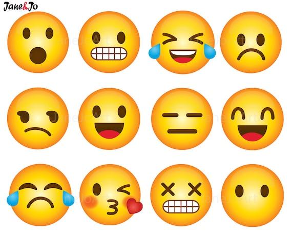 40 emoji clipart emoji clip art smiley face emoji clipart rh etsy com emoticons clipart emoticons clipart png