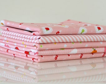 Sweet Orchard - Pink Colourway Fat Quarter Bundle - 5 Pieces