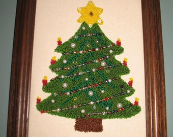 Punchneedle Holiday Tree