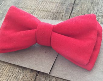 Bow tie, adult, child, baby, adjustable, Chic, trendy shirt, dress, Occasion, wedding, pre-tied, red, plain, classic