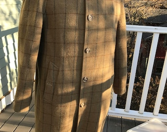 Vintage Mens Burberry Reversible Wool Plaid coat