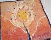 Golden Sun Tree - Hand pa...