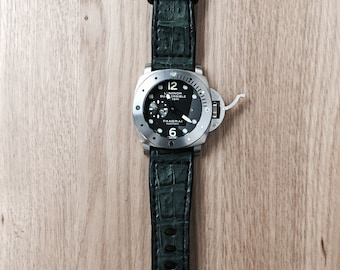 Handmade Forest Green Alligator/Crocodile Leather Watch Strap/Band