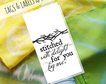 Printable PDF Tags or Labels - Stitched with Delight