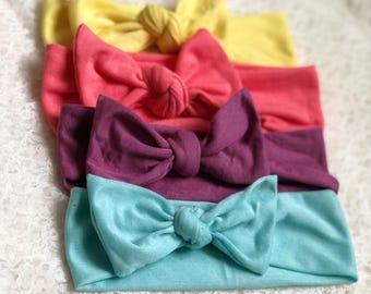 Baby Girl Headband, Baby Headband, Baby Headwrap, Baby Bows, Baby Turban Headband, Baby Girl Headwrap , Easter Set, Spring Colors