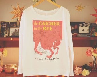 Catcher in the Rye Long Drop Sleeve French Terry Shirt | JD Salinger | Book Cover