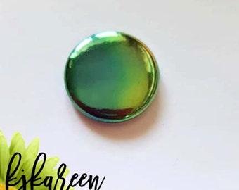 "Badge 1 ""- watercolor metallic Emerald *."