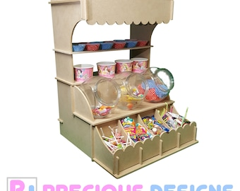 Sweets candy stand stall cart, wedding day display storage unit party event cake