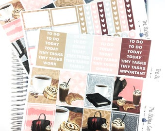 sweets and coffee Weekly Kit | Planner Sticker, Weekly Kit, coffee Weekly Kit, Vertical Planner Kit, fall weekly kit, coffee planner sticker