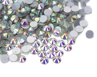 Crystal AB Crystal Aurore Boreale Rhinestones loose flat back NoHot Fix bead Size ss10/ ss12/ ss14/ ss16/ ss20/ ss30 /ss 34/ ss40/ ss50
