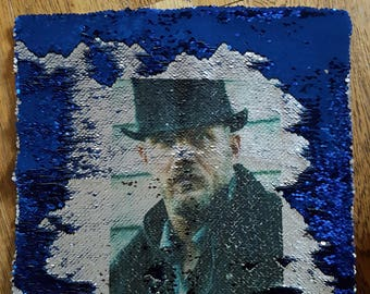 tom hardy reversible sequin cushion