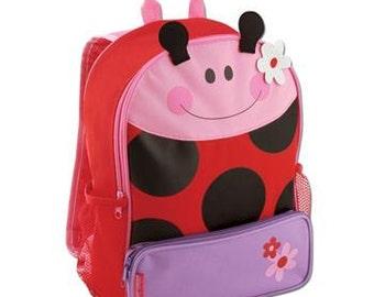 Personalized Stephen Joseph Sidekick backpack Ladybug