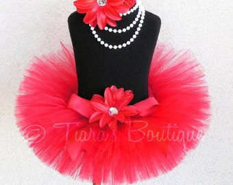 True Love - Custom Sewn Red Tutu - Up to 8'' Length - sizes Newborn to 5T - Perfect for Christmas &Valentine's Day