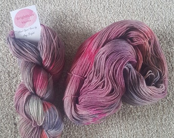 Mulberry Hand Dyed 4ply 75 Superwash Wool 25 Nylon Yarn