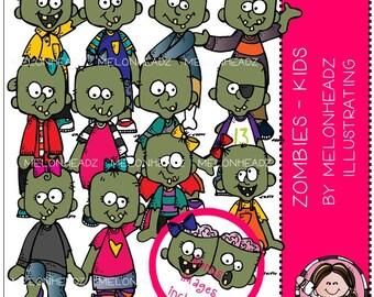 Zombies clip art - Kids