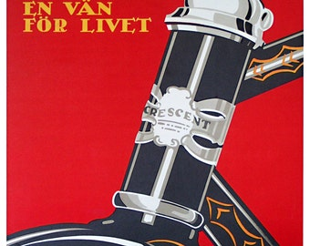 Bike Art Vintage Bicycle Decor Cycling Poster Retro Print (H280)