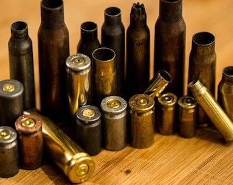 Grab Bag! Half a Pound of Assorted Bullet Casings- FREE US SHIPPING!
