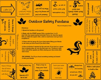 Outdoor Safety scavenger hunt game! Great for camping, scouts, families and more