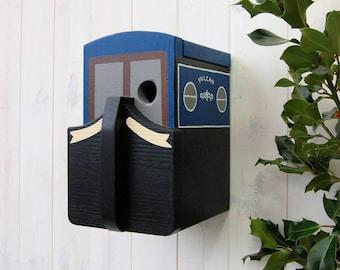 Personalised Bird House Narrowboat Bird Box, Sailing Gift