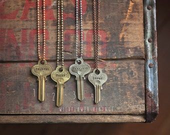 Ornate Vintage Key Necklace | Hand Stamped, Stunning and Rare