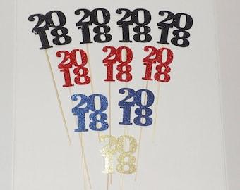 Blue 2018 Centerpieces, 2018 Graduation Party Centerpiece,  2018, 2018 Party Decor, Graduation Centerpieces, 2018 Graduation