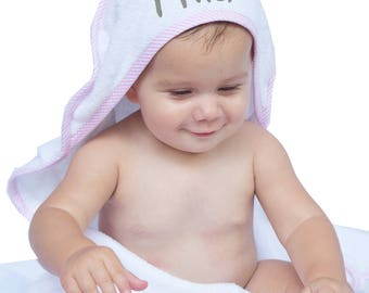 Baby Hooded Towel, Personalized Baby Towel, Baby Towel with Hood, Hooded Towel Baby Girl, Monogrammed Baby Towel, Hooded Towel Infant