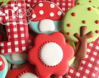 Little Red Riding Hood Inspired Birthday Cookies
