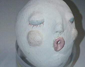 OOAK Unfinished Paper Mache' Elf Head Face
