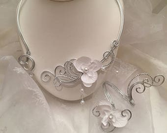 Necklace / bracelet in Silver Aluminum wire