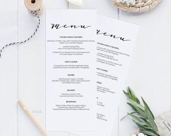 Rustic Printable Wedding Menu Template, Menu Cards, Menu Template, Editable Menu, Rustic Wedding, Editable PDF Instant Download #E010